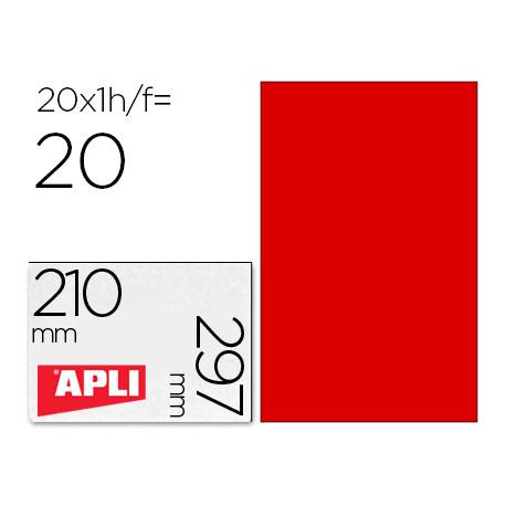 Etiqueta adhesiva apli 02880 tamaño 210x297 mm para fotocopiadora laser ink