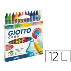 Lapices cera giotto caja de 12 colores