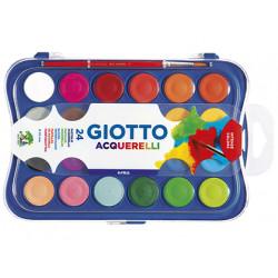 Acuarela giotto 24 colores estuche de plastico