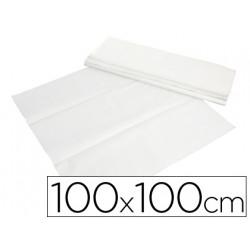Mantel de papel blanco en hojas 100x100 cm caja de 400
