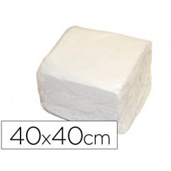 Servilleta de papel 40x40cm blanca dos capas paquete de 50