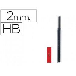 Mina caran dache grafito hb 2 mm longitud 12 cm estuche de 3 minas