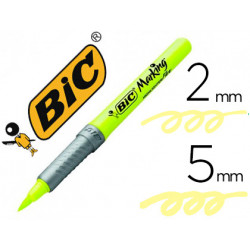 Rotulador bic fluorescente highlighter flex amarillo
