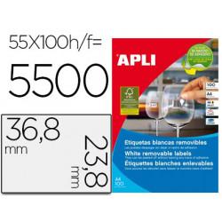 Etiqueta adhesiva apli 368x238 mm fotocopiadora laser inkjet caja 100 hoj