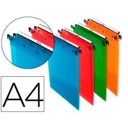 Carpeta colgante elba din a4 polipropileno pack de 10 unidades colores surt