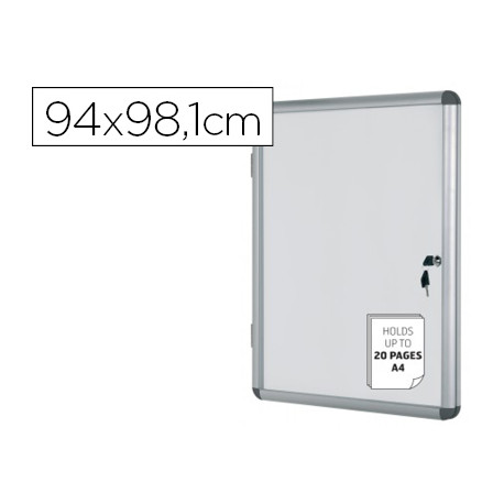 Vitrina de anuncios bioffice fondo magnetico extraplana de interior 940x98