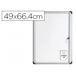 Vitrina de anuncios bioffice fondo magnetico extraplana de interior 490x66