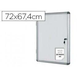 Vitrina de anuncios bioffice fondo magnetico extraplana de interior 720x67
