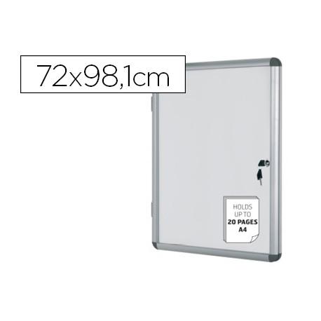 Vitrina de anuncios bioffice fondo magnetico extraplana de interior 720x98
