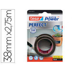 Cinta adhesiva tesa textil extra power perfect 275 m x 38 mm negra