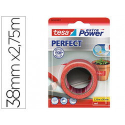 Cinta adhesiva tesa textil extra power perfect 275 m x 38 mm rojo
