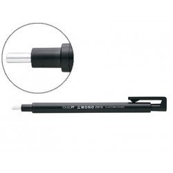 Portagomas tombow con clip punta goma negra redonda 23 mm diametro color n