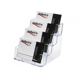Portatarjetas de visita archivo 2000 poliestireno cristal 4 compartimentos