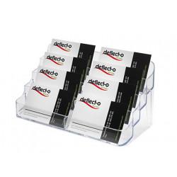 Portatarjetas de visita archivo 2000 poliestireno cristal 8 compartimentos