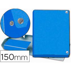 Carpeta proyectos pardo folio lomo 150 mm carton forrado azul con broche