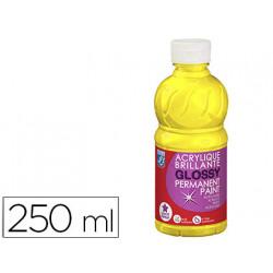 Pintura acrilica l&b brillo amarillo primario bote de 250 ml