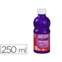 Pintura acrilica l&b brillo violeta bote de 250 ml