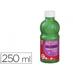 Pintura acrilica l&b brillo verde brillante bote de 250 ml