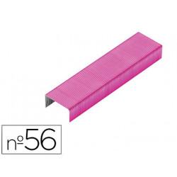 Grapas rexel n56 26/6 color rosa caja de 2000 unidades