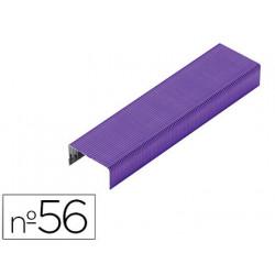 Grapas rexel n56 26/6 color morado caja de 2000 unidades