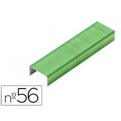 Grapas rexel n56 26/6 color verde lima caja de 2000 unidades