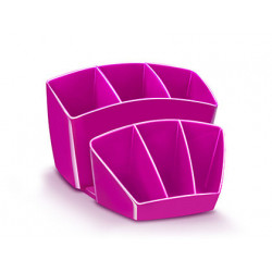 Organizador sobremesa cep 8 compartimentos plastico rosa 143x158x93 mm