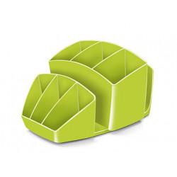 Organizador sobremesa cep 8 compartimentos plastico verde 143x158x93 mm
