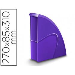 Revistero cep plastico uso vertical / horizontal violeta 85x270x310 mm