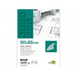 Papel dibujo liderpapel 50x65cm 90g/m2 vegetal