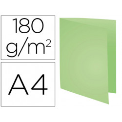 Subcarpeta cartulina reciclada exacompta din a4 verde 170 gr