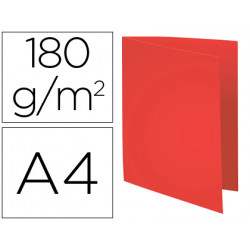Subcarpeta cartulina reciclada exacompta din a4 rojo 180 gr