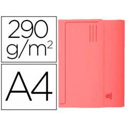 Subcarpeta cartulina con bolsa exacompta din a4 rojo 290 gr