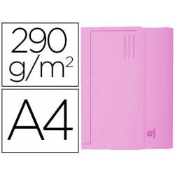 Subcarpeta cartulina con bolsa exacompta din a4 rosa 290 gr