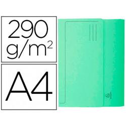Subcarpeta cartulina con bolsa exacompta din a4 verde 290 gr