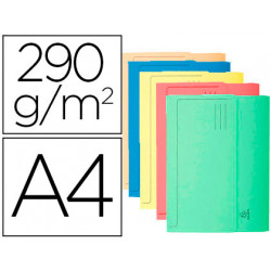 Subcarpeta cartulina con bolsa exacompta din a4 colores surtidos 290 gr