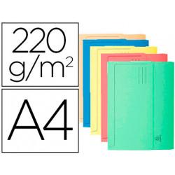 Subcarpeta cartulina con bolsa exacompta din a4 colores surtidos 220 gr