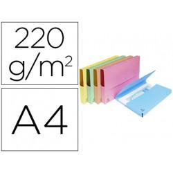 Subcarpeta cartulina lustrada con bolsa exacompta din a4 colores surtidos 2