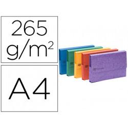 Subcarpeta cartulina lustrada con bolsa exacompta din a3 colores surtidos 2