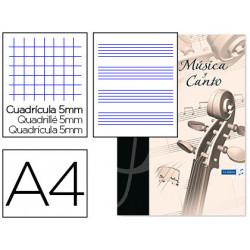 Bloc musica y canto oxford din a4 24 hojas 90 gr pentagrama interlineado 2