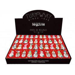 Papel regalo arguval navidad turnowsky 50x70 cm caja de 100 unidades
