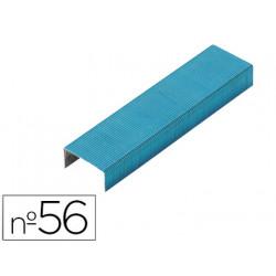 Grapas rexel n56 26/6 color azul caja de 2000 unidades