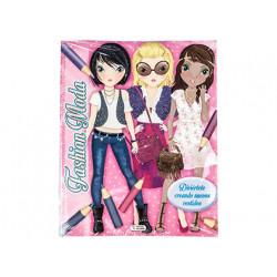 Cuaderno de colorear moda fashion con pegatinas 64 paginas 240x300 mm