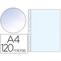 Funda multitaladro qconnect folio 120 mc cristal caja de 100 unidades