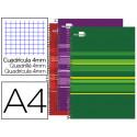 Cuaderno espiral liderpapel a4 micro classic tapa forrada 160 h 60 gr cuadr