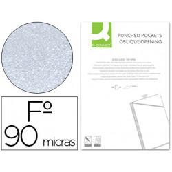Funda qconnect corte oblicuo 290x195 mm cristal 4 taladros pvc 90 mc caja