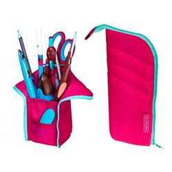 Bolso portatodo herlitz my case rosa / verde menta 105x20x195 mm