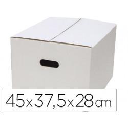 Caja para embalar qconnect blanca con asas doble canal 450x280 mm