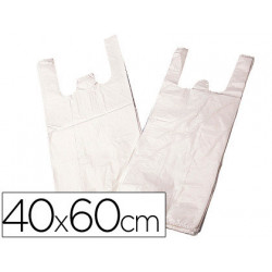 Bolsa plastico camiseta biodegradable 40 x 60