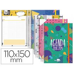 Agenda escolar liderpapel 1819 classic mini catalan un dia pagina espiral