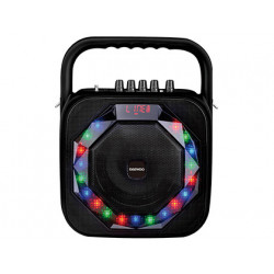 Altavoz daewoo portatil dsk360 microfono inalambrico luces led usb entrada